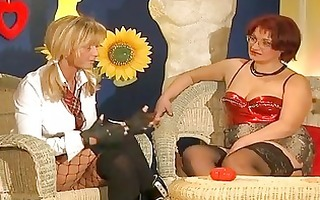 chunky redhead german works her holes in advance