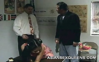 asian playgirl gives oral-job