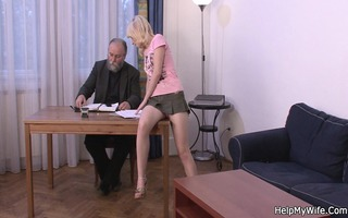 old hubby pays him to fuck his juvenile wife