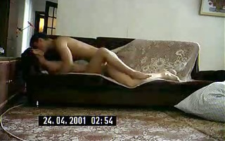 sexy russian milf copulates a lad