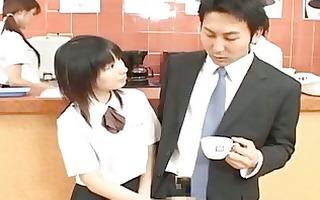 japanese av model cute office angel