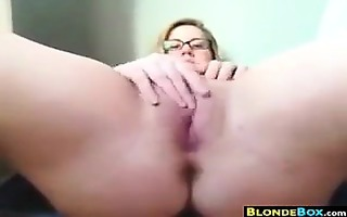 large blond nerd masturbating