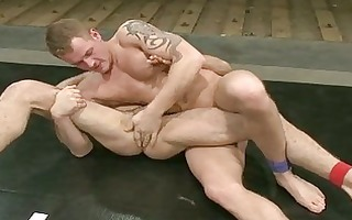 tattooed homosexual guys getting s garb and