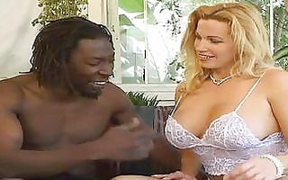 blond large tit milf receives darksome dick