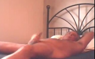 dad jerkof large load on daybed