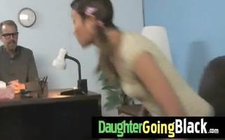 recent dark stepdad punishes hawt daughter for